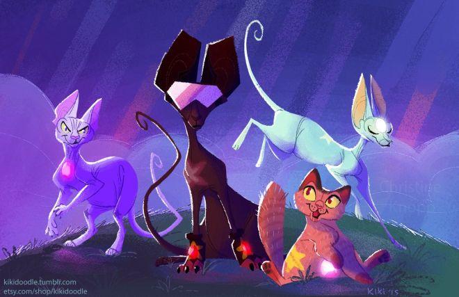 crystal gem cats